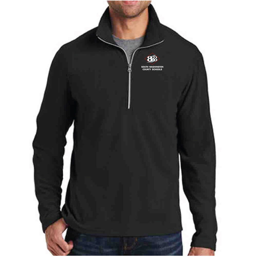 833 - PORT AUTHORITY MENS 1/2 ZIP MICROFLEECE PULLOVER-performance-Advanced Sportswear