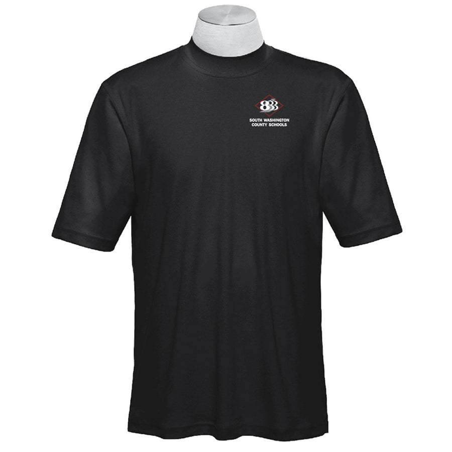 833 - Mens Smooth Touch Short Sleeve Mock Turtleneck - Advanced Sportswear Inc, - Newport, MN