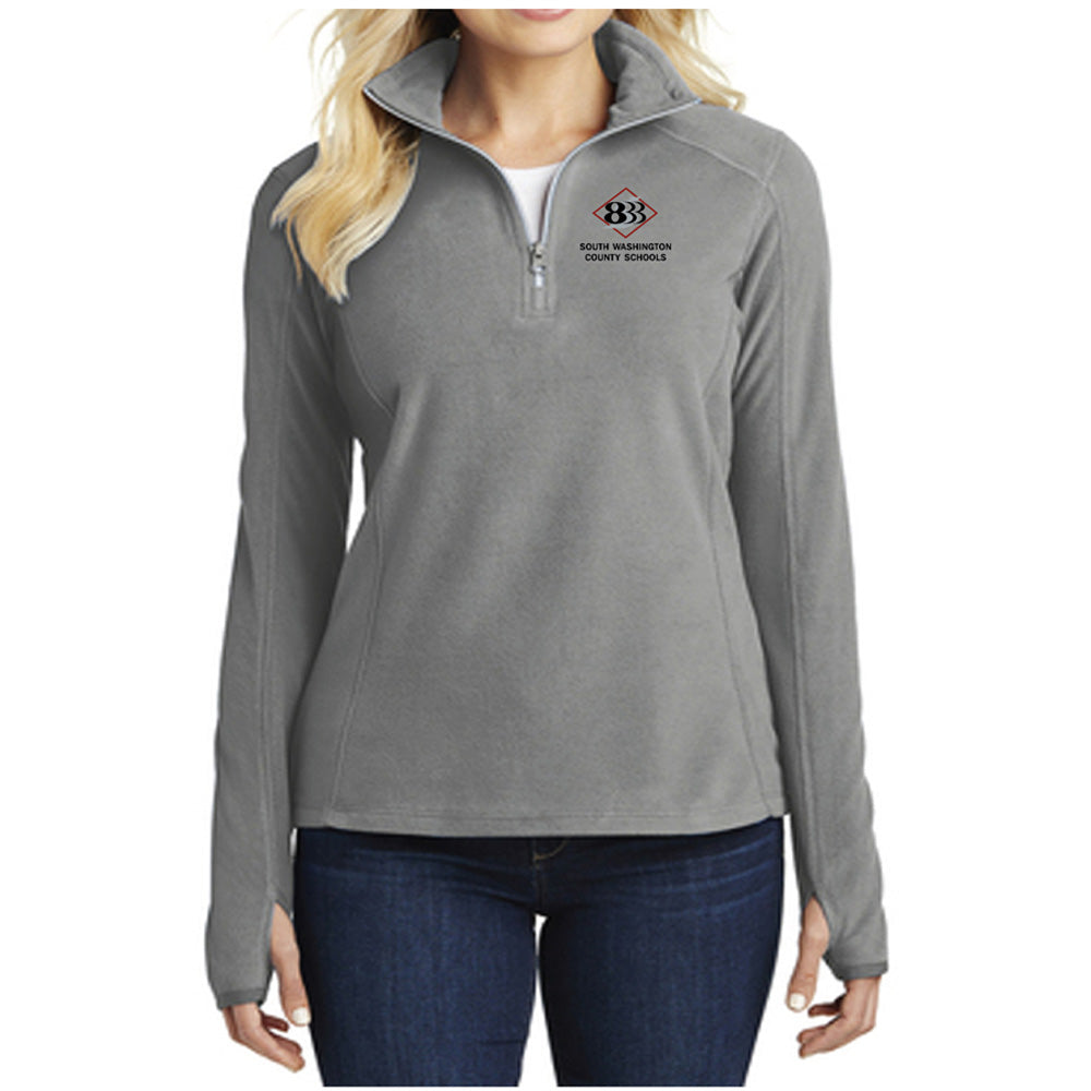 833 - PORT AUTHORITY LADIES 1/2 ZIP MICROFLEECE PULLOVER-performance-Advanced Sportswear