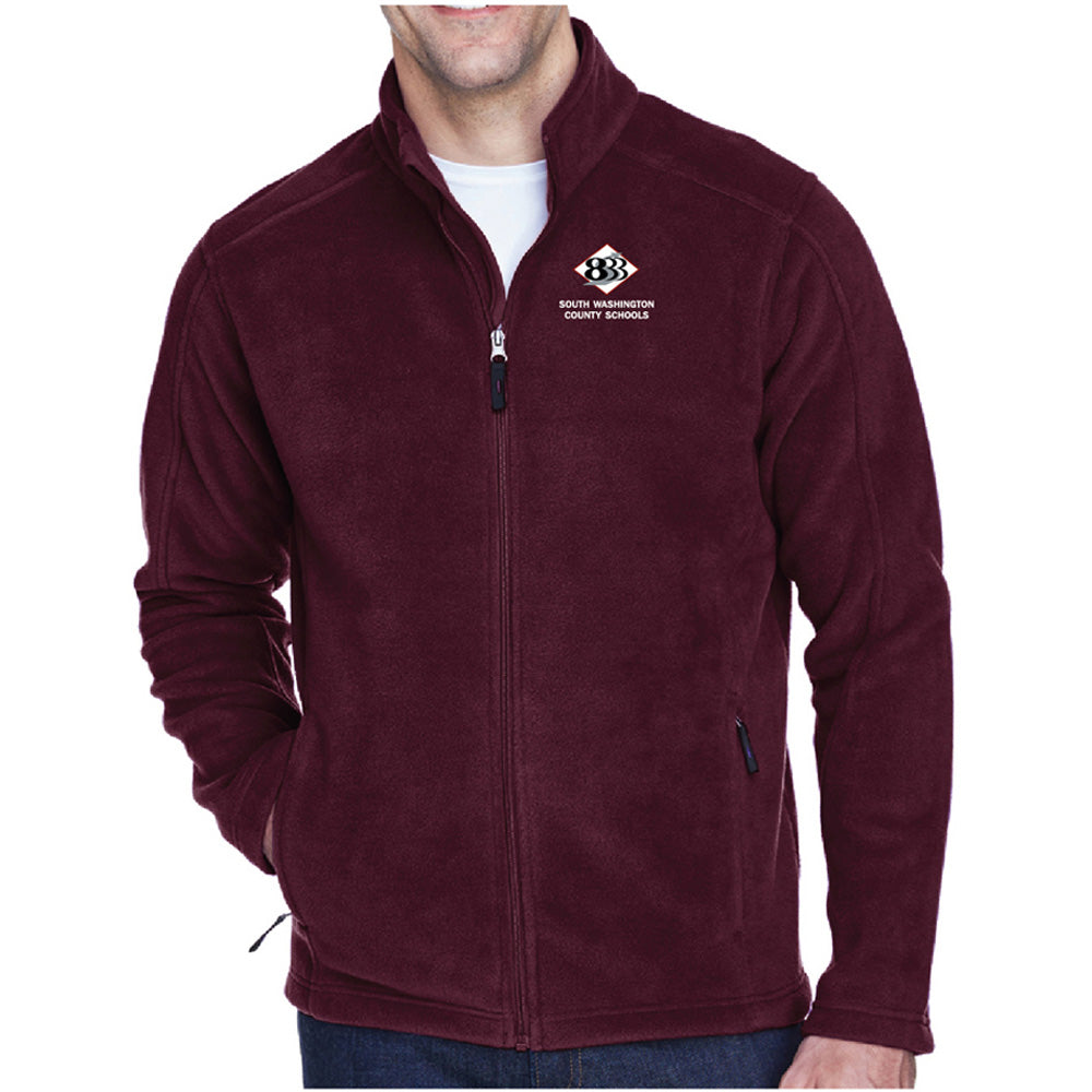 833 - Ash City - Core 365 Men's Journey Fleece Jacket-Outerwear-Advanced Sportswear