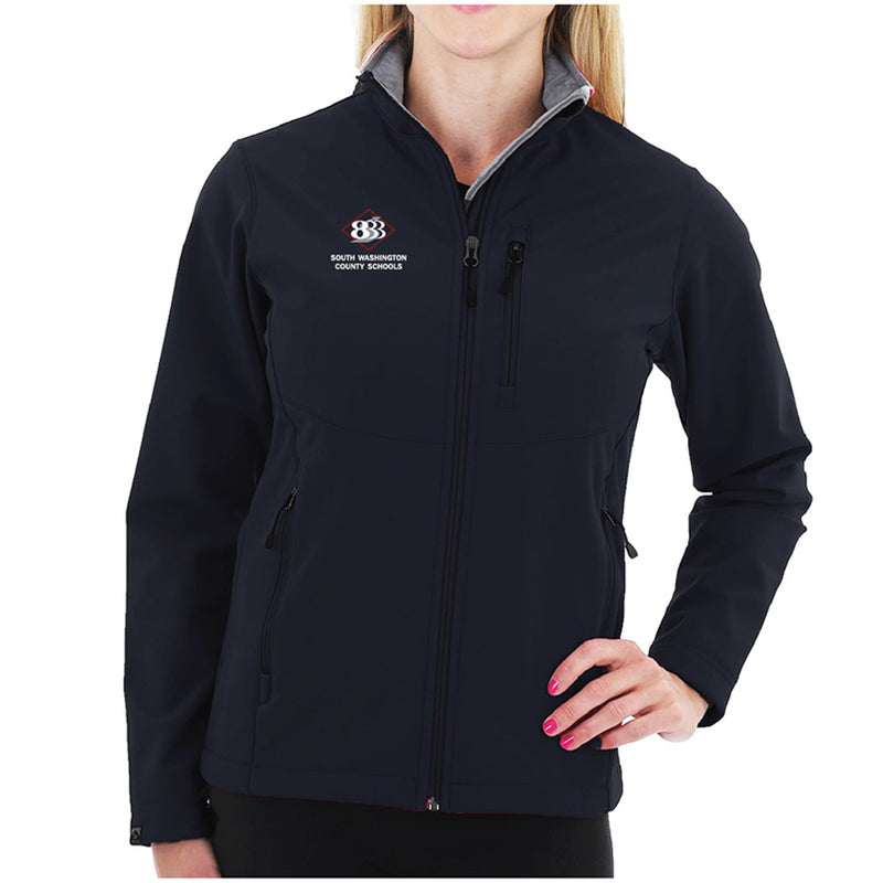 "833 - STORM CREEK WOMEN'S ""SHAYLA"" VELVET LINED SOFTSHELL JACKET-Ladies-Advanced Sportswear"