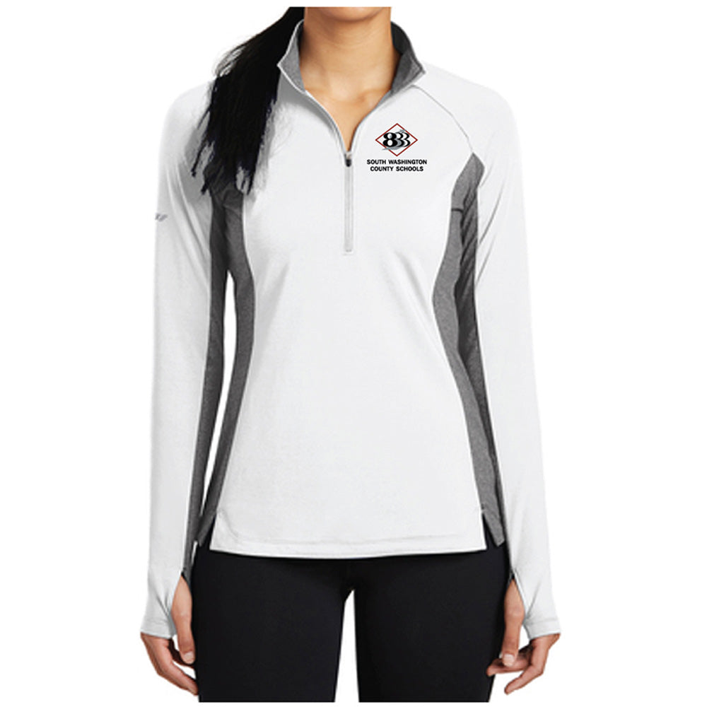 833 - SPORT-TEK LADIES STRETCH 1/2 ZIP PULLOVER-Ladies-Advanced Sportswear