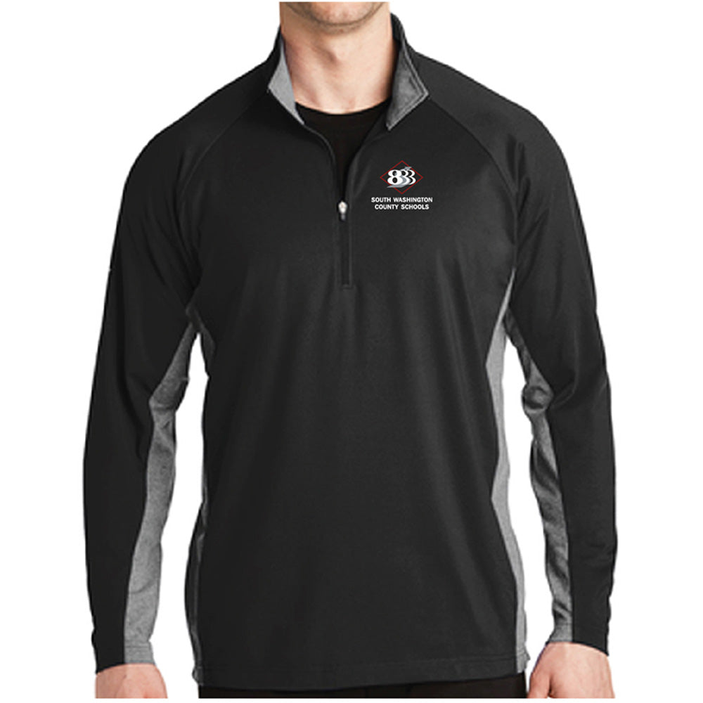 833 - SPORT-TEK MENS STRETCH 1/2 ZIP PULLOVER-performance-Advanced Sportswear
