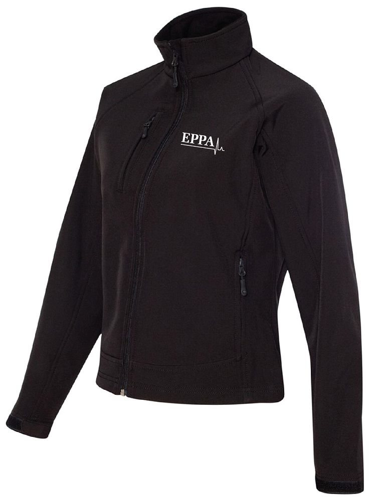 EPPA - BONDED SOFTSHELL JACKET - BLACK/BLACK (LADIES) - Advanced Sportswear Inc, - Newport, MN