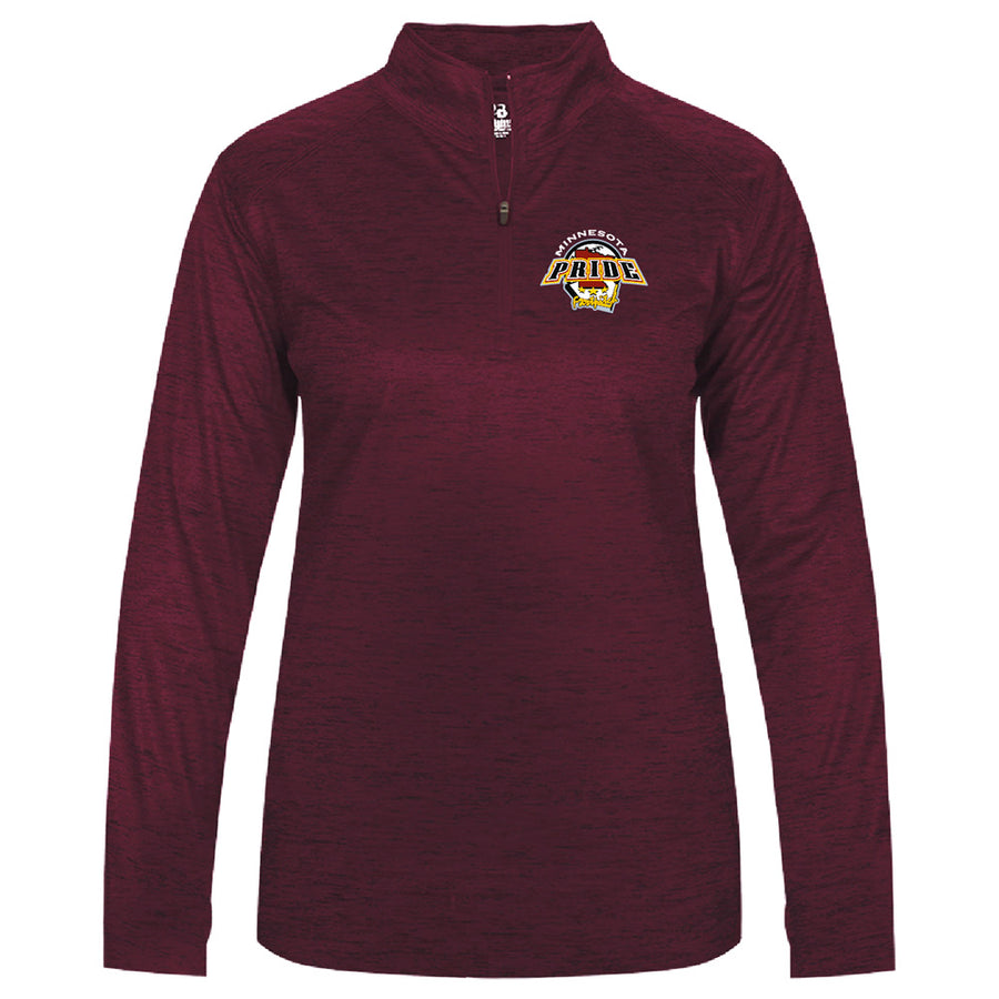 MN PRIDE LADIES TONAL BLEND 1/4 ZIP - Advanced Sportswear Inc, - Newport, MN