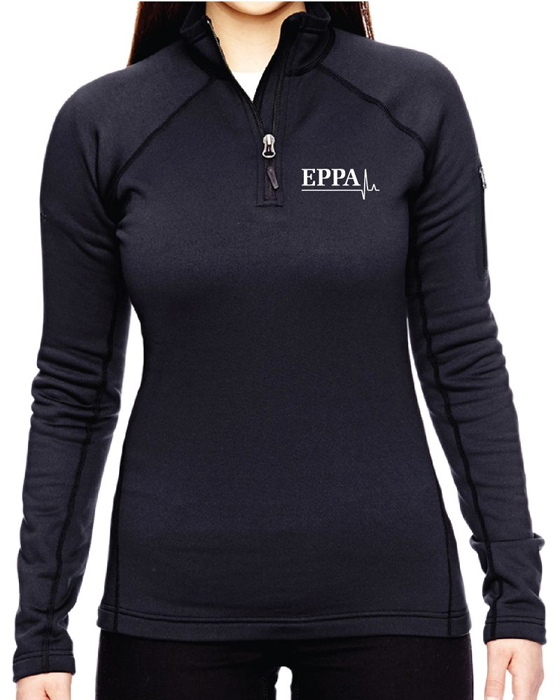 EPPA - MARMOT 1/2 ZIP - BLACK (LADIES)
