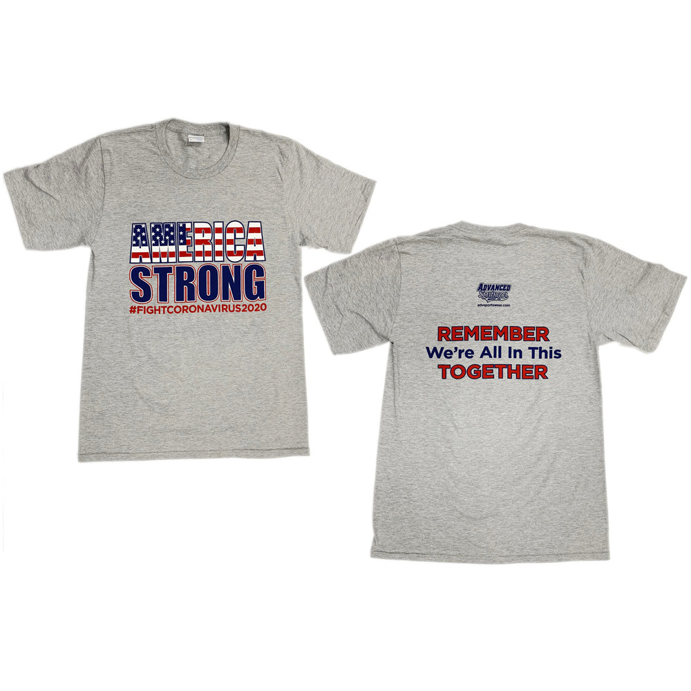 America Strong Port & Company® Ring Spun Cotton Tee-tshirts-Advanced Sportswear