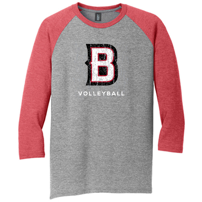 BVB - District ® Perfect Tri ® 3/4-Sleeve Raglan-Athleticwear-Advanced Sportswear