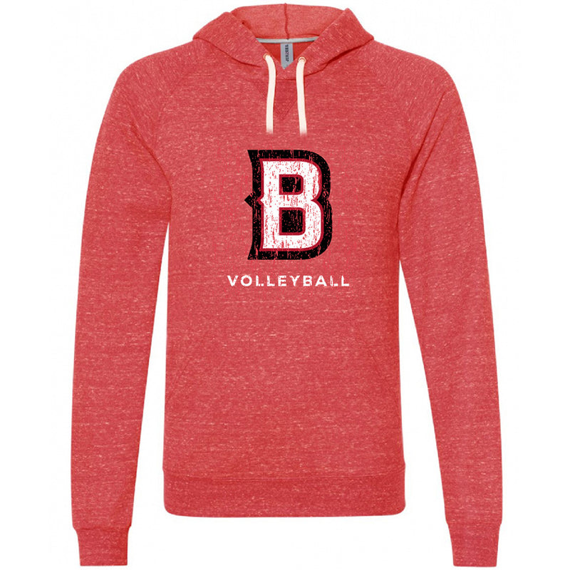BVB - JERZEES ® Snow Heather French Terry Raglan Hoodie-Hoodies-Advanced Sportswear