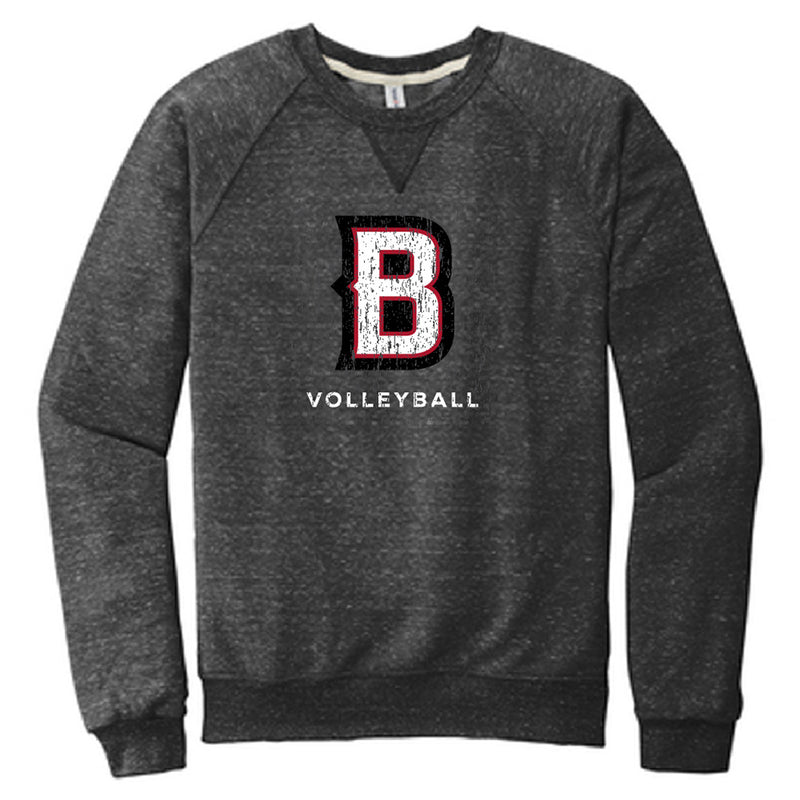 BVB - JERZEES ® Snow Heather French Terry Raglan Crew-Crew Necks-Advanced Sportswear