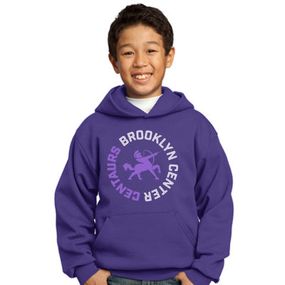 BCC Port & Company® Youth Core Fleece Pullover Hooded Sweatshirt-Hoodies-Advanced Sportswear