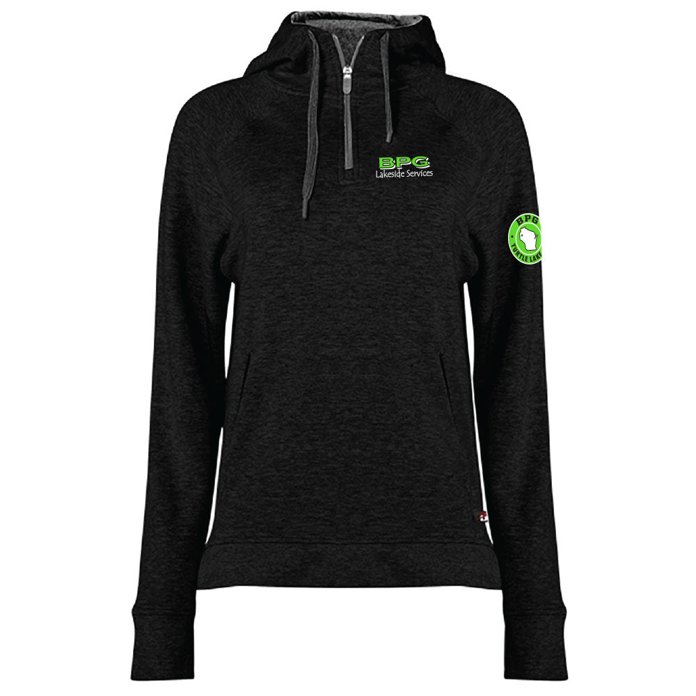 BPG BADGER PERFORMANCE FIT FLEX WOMEN'S HOOD ZIP-Ladies-Advanced Sportswear