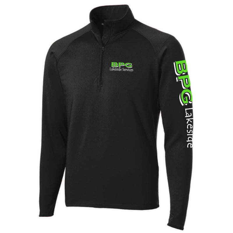 BPG Sport-Tek® Sport-Wick® Stretch 1/2-Zip Pullover-1/4 ZIP-Advanced Sportswear