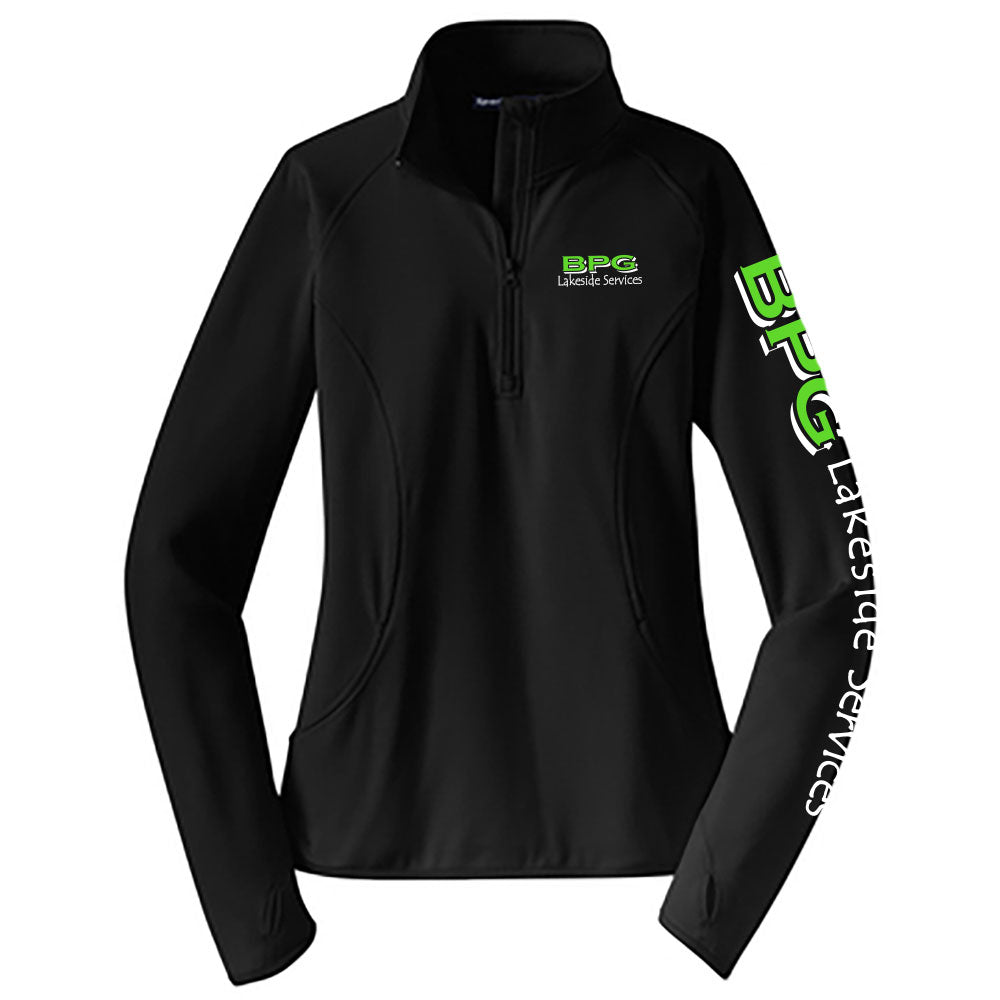 BPG Sport-Tek® Ladies Sport-Wick® Stretch 1/2-Zip Pullover-Ladies-Advanced Sportswear