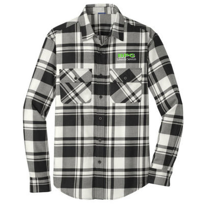 BPG Port Authority® Plaid Flannel Shirt (2 colors avail)-Long Sleeve-Advanced Sportswear
