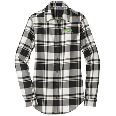 BPG Port Authority® Ladies Plaid Flannel Tunic (2 colors avail)-Ladies-Advanced Sportswear