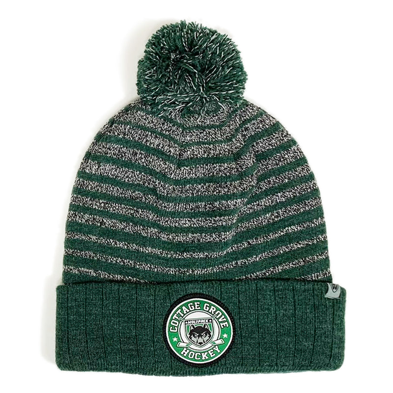 CG HOCKEY PATCH RITZ KNIT HAT-Hats-Advanced Sportswear