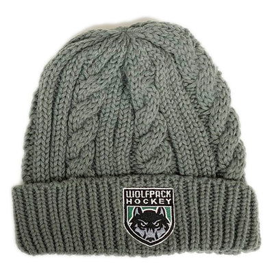 WP HOCKEY EMPIRE KNIT BEANIE W/WOLF HEAD-Hats-Advanced Sportswear