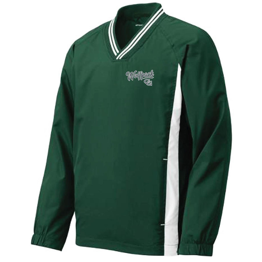 CGAA Baseball Tipped V-neck Raglan Windshirt - Advanced Sportswear Inc, - Newport, MN