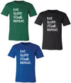 BELLA+CANVAS EAT SLEEP RINK REPEAT SHORT SLEEVE JERSEY T-TShirts-Advanced Sportswear