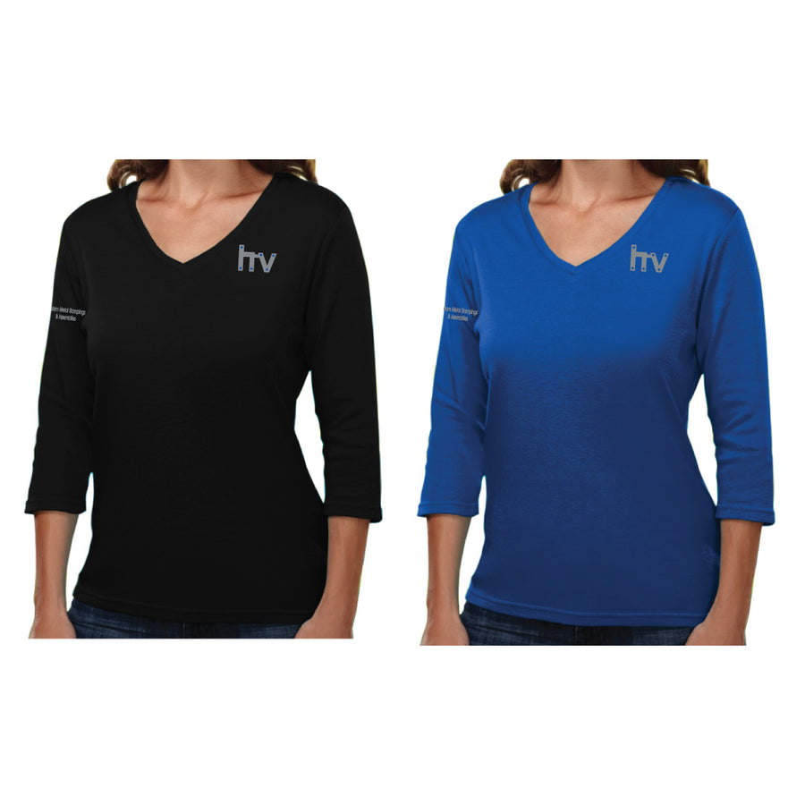 HV Tri-Mountain Ladies Mystique 3/4 Sleeve Shirt - Advanced Sportswear Inc, - Newport, MN
