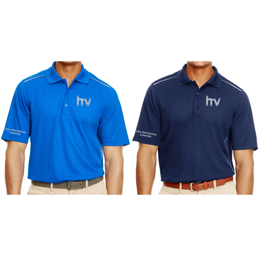 HV Core 365 Mens Radiant Reflective Piping Performance Polo - Advanced Sportswear Inc, - Newport, MN