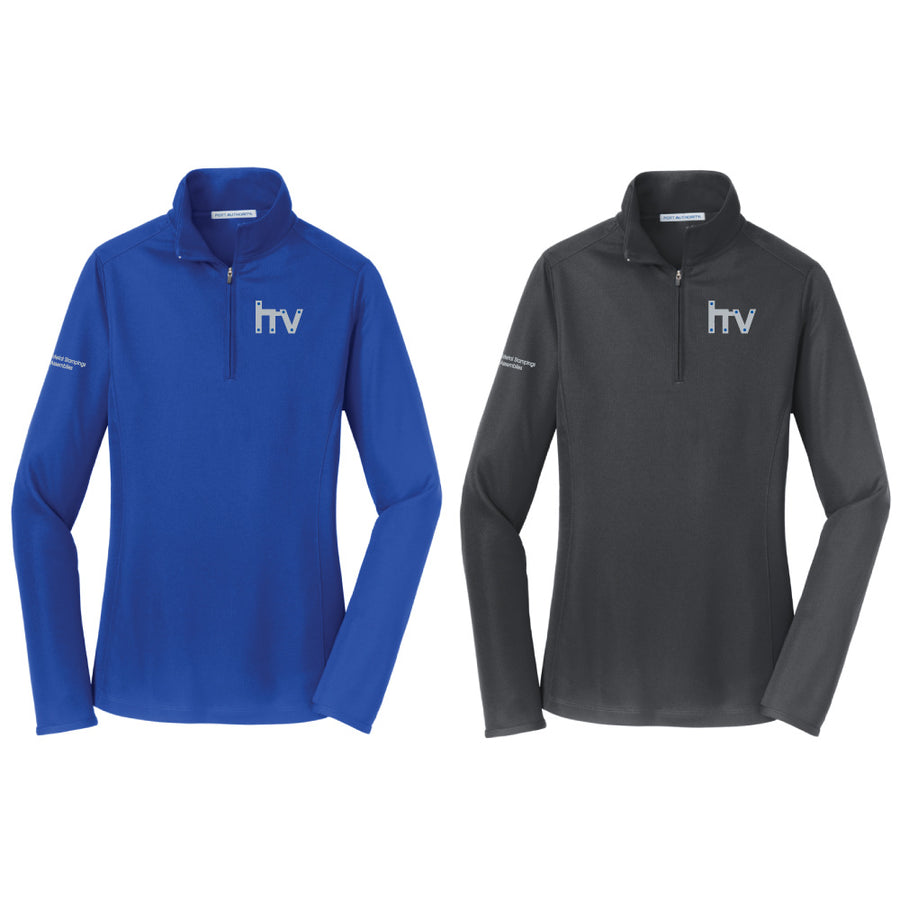 HV Port Authority Ladies Pinpoint Mesh 1/2 Zip - Advanced Sportswear Inc, - Newport, MN