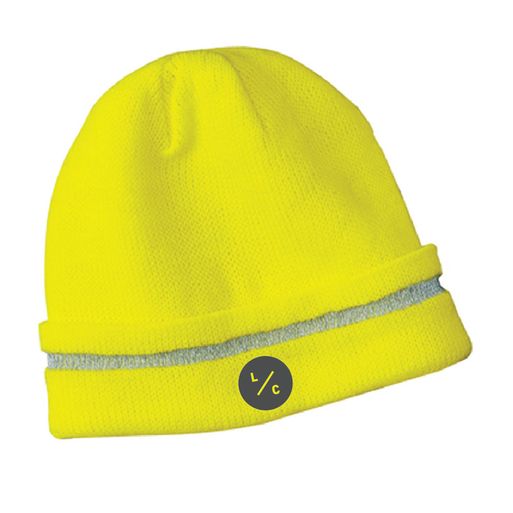 LINN MAINT - CornerStone® - Enhanced Visibility Beanie with Reflective Stripe-Headwear-Advanced Sportswear