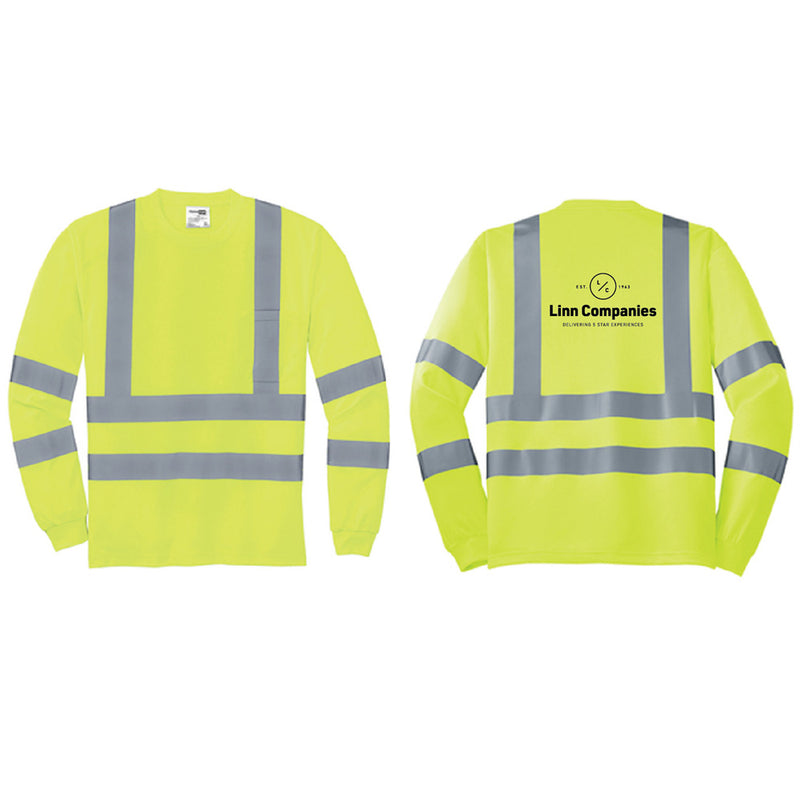 LINN MAINT - CornerStone® - ANSI 107 Class 3 Long Sleeve Snag-Resistant Reflective T-Shirt-TShirts-Advanced Sportswear