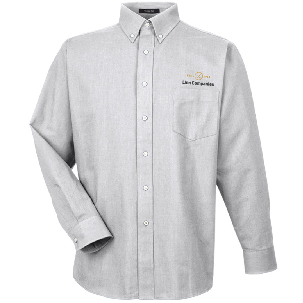 LINN MAINT - UltraClub Men's Classic Wrinkle-Resistant Long-Sleeve Oxford-Long Sleeve-Advanced Sportswear