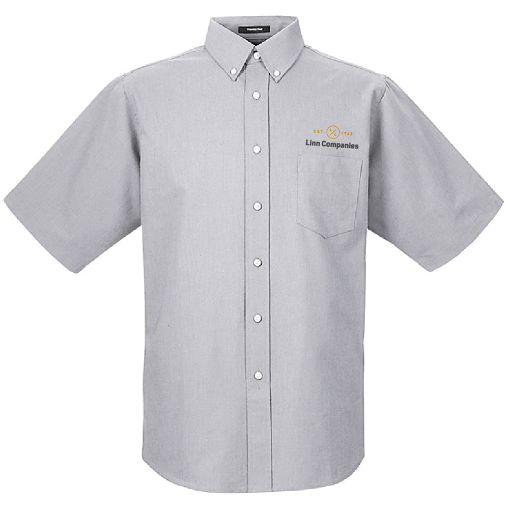 LINN MAINT - UltraClub Men's Classic Wrinkle-Resistant Short-Sleeve Oxford-BUTTON UP-Advanced Sportswear