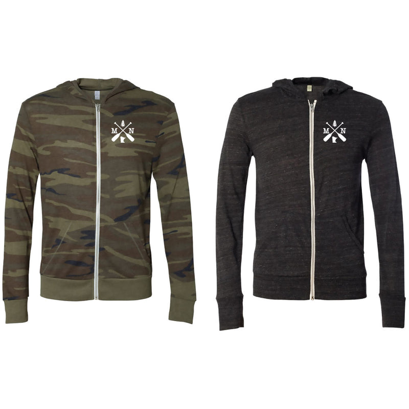 MN X Alternative Unisex Eco-Jersey Full-Zip Hoodie-FULL ZIP-Advanced Sportswear