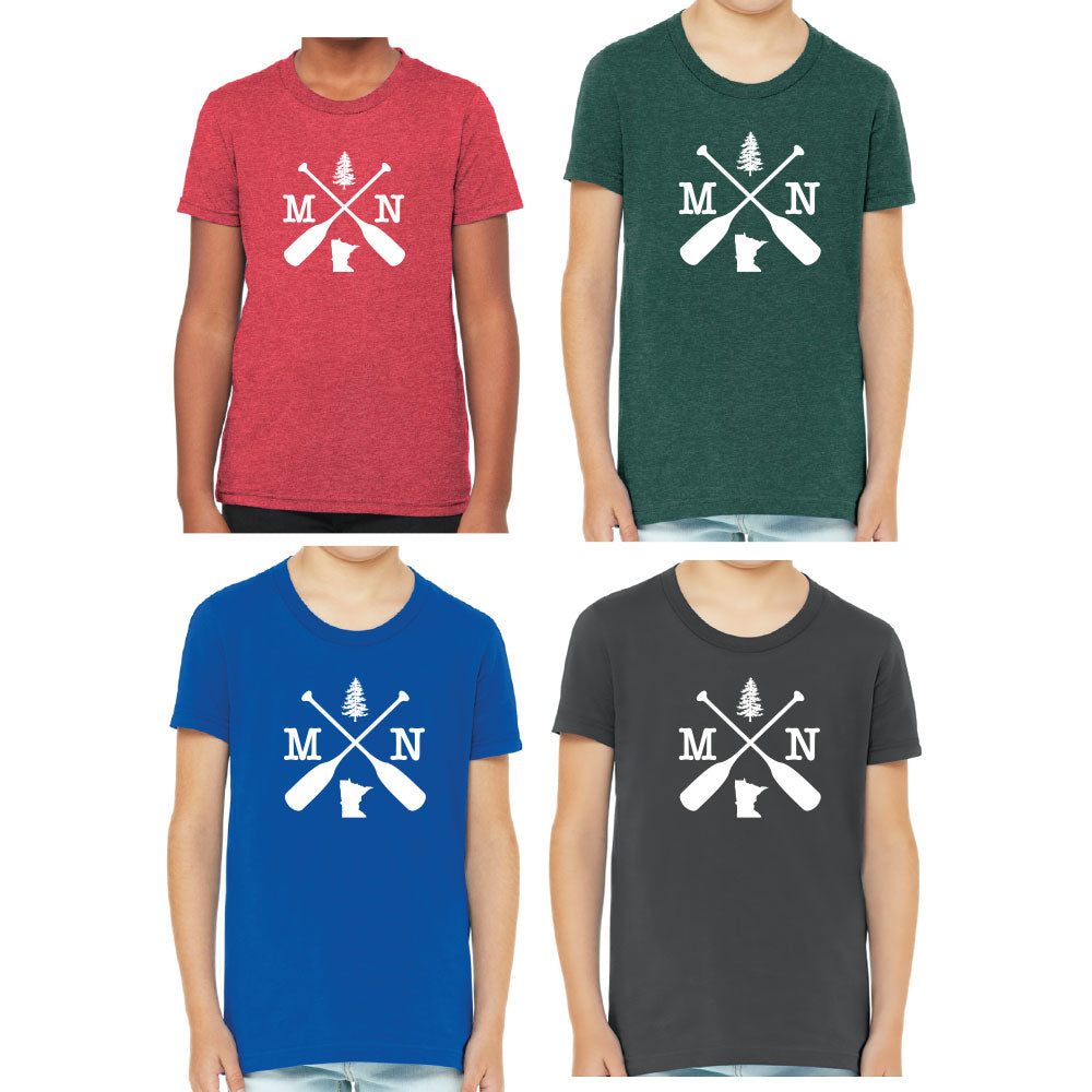 MN CROSSED OARS BELLA+CANVAS ® Youth Jersey Short Sleeve Tee-T'shirt-Advanced Sportswear