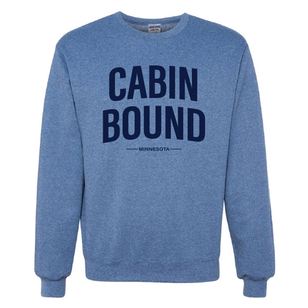 CABIN BOUND MN JERZEES - NuBlend® Crewneck Sweatshirt-Crew Necks-Advanced Sportswear