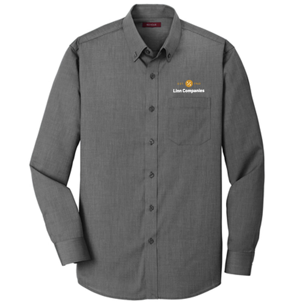 LINN MAINT - Red House® Nailhead Non-Iron Shirt-BUTTON UP-Advanced Sportswear