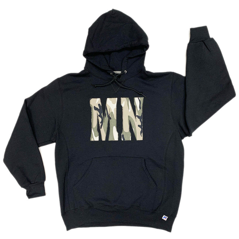 MN CAMO HOODED SWEATSHIRT-Hoodies-Advanced Sportswear