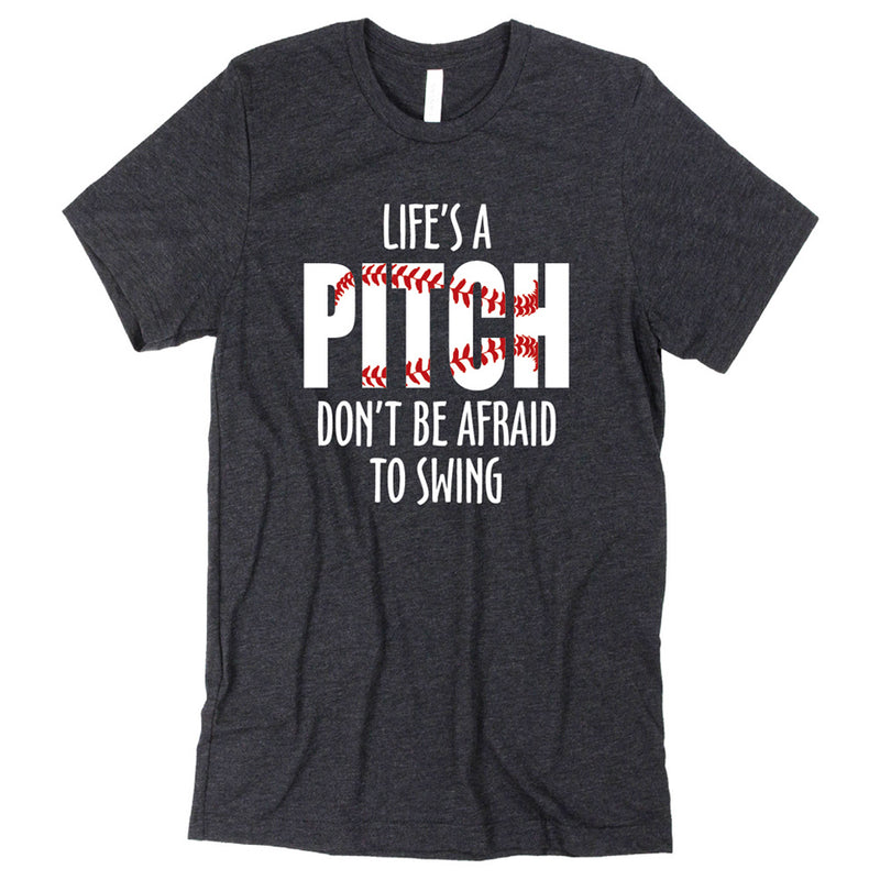 LIFE'S A PITCH UNISEX S/S JERSEY T'SHIRT-TShirts-Advanced Sportswear