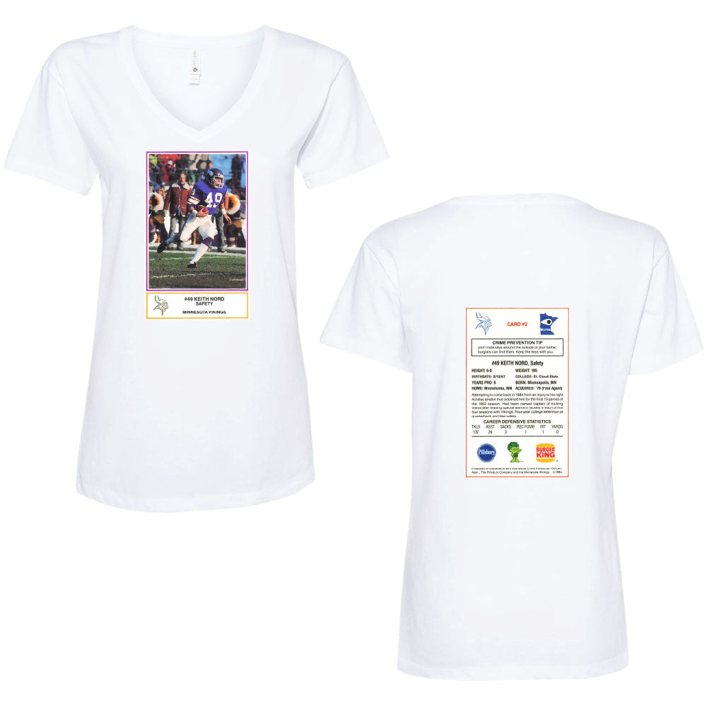 NORD FB CARD Next Level - Women's Fine Jersey Relaxed V T-Shirt-Ladies-Advanced Sportswear
