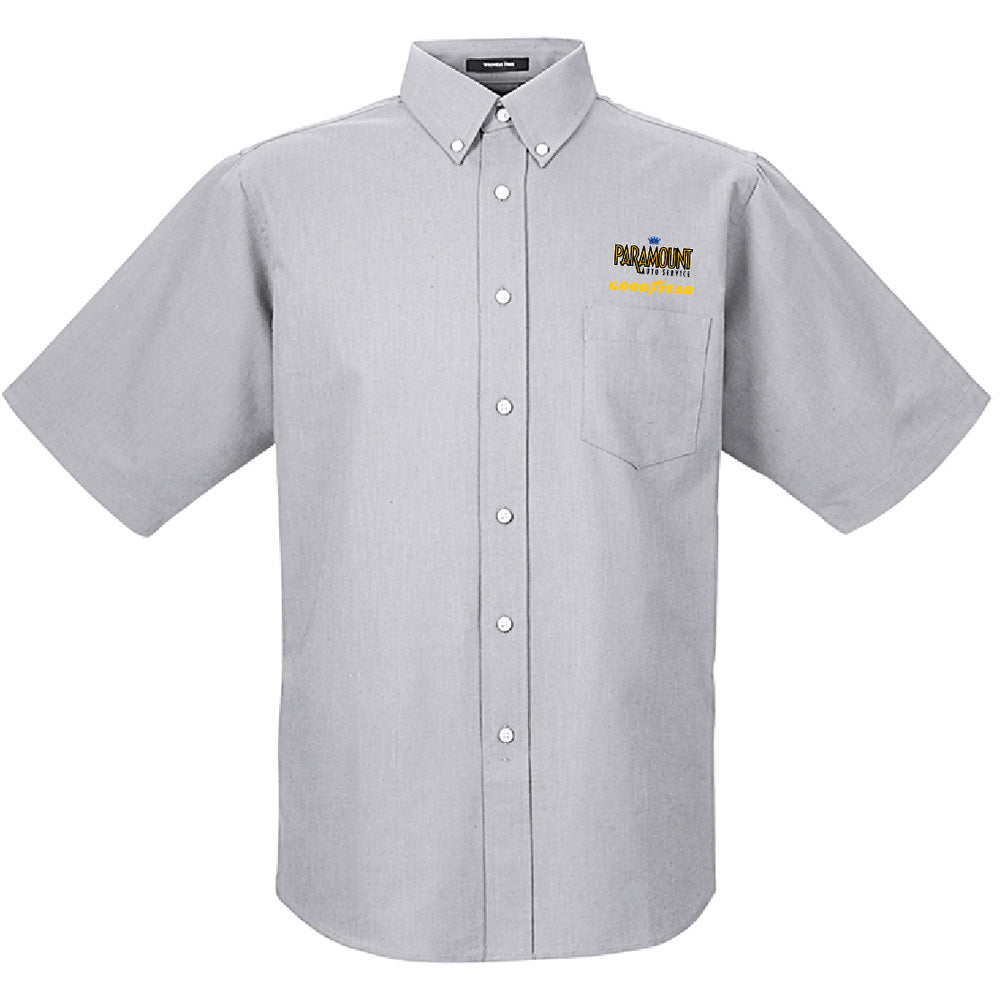 PARAMOUNT - UltraClub Men's Classic Wrinkle-Resistant Short-Sleeve Oxford-BUTTON UP-Advanced Sportswear