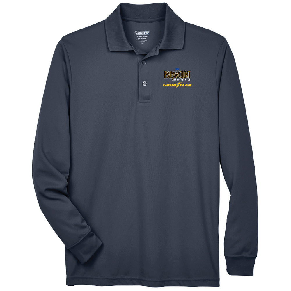 PARAMOUNT - CORE 365 L/S PERFORMANCE POLO-Polos-Advanced Sportswear