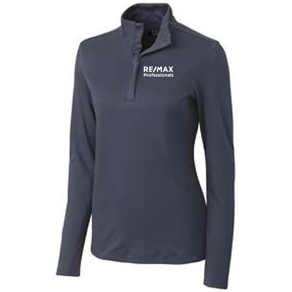 REMAX LADIES CUTTER & BUCK BELFAIR PIMA HALF ZIP-Ladies-Advanced Sportswear