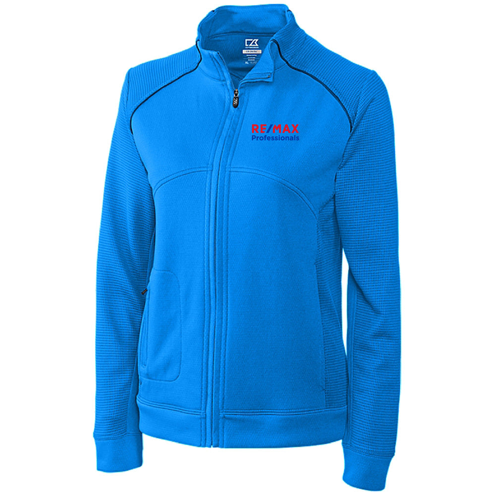 REMAX LADIES CUTTER & BUCK DRYTECH EDGE FULL ZIP-Ladies-Advanced Sportswear