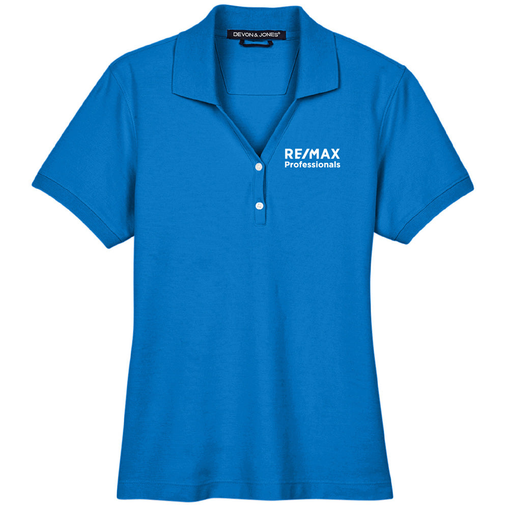REMAX LADIES PIMA PIQUE S/S POLO-Polos-Advanced Sportswear