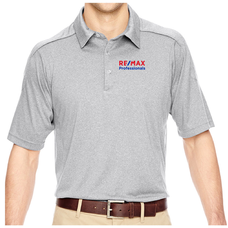 REMAX MENS EPERFORMANCE FLUID MELANGE POLO-Polos-Advanced Sportswear