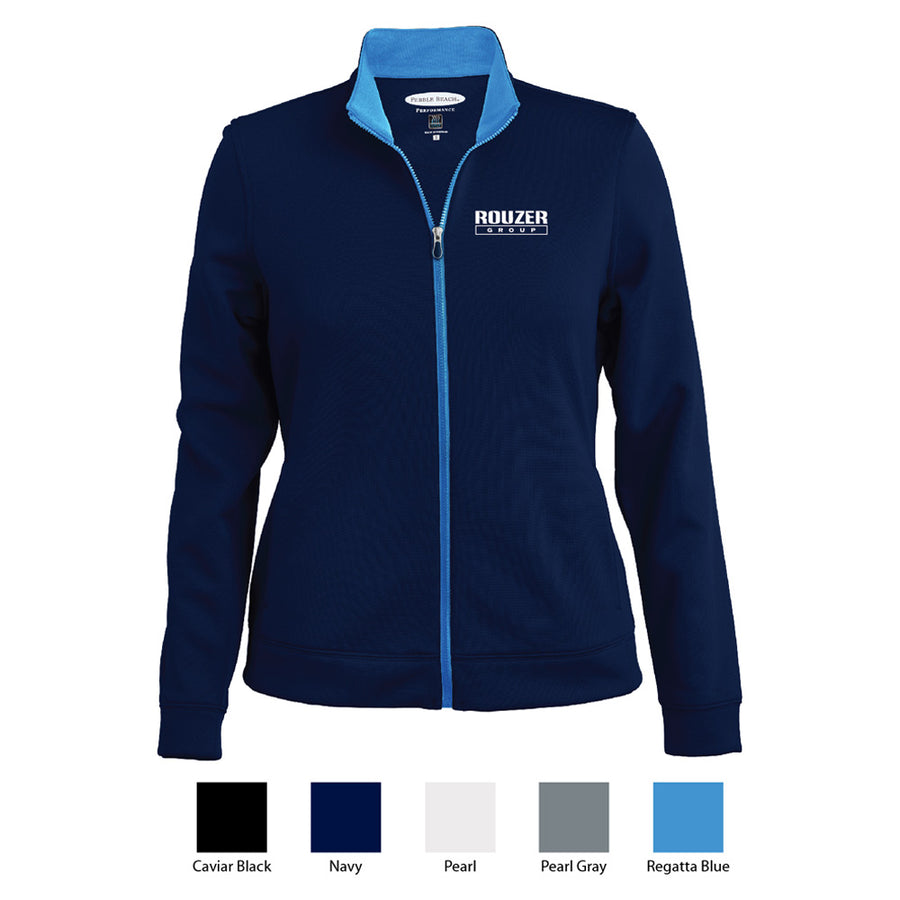 Rouzer Pebble Beach Ladies Contrast Full Zip Jacket - Advanced Sportswear Inc, - Newport, MN