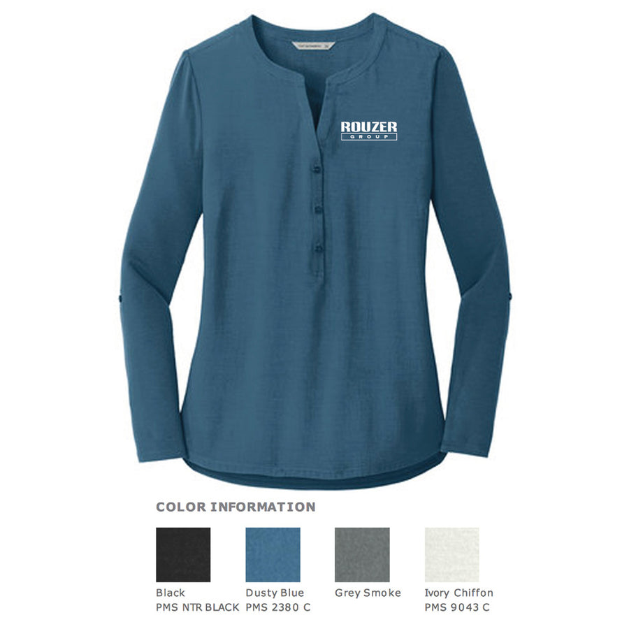 Rouzer Ladies Concept Henley Tunic - Advanced Sportswear Inc, - Newport, MN