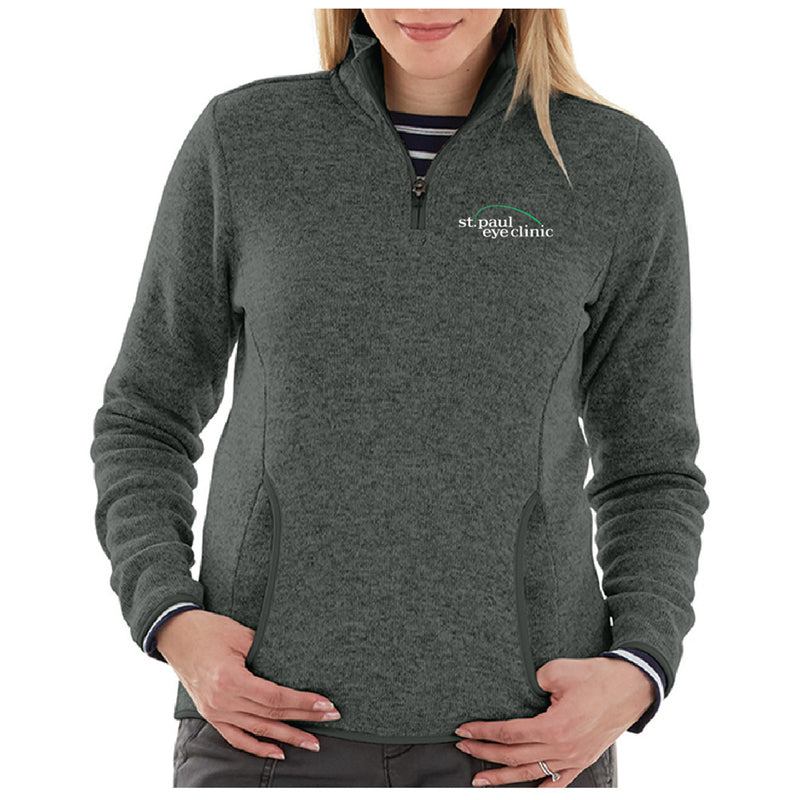 SPEC - CHARLES RIVER WOMEN'S HEATHERED FLEECE PULLOVER-Ladies-Advanced Sportswear