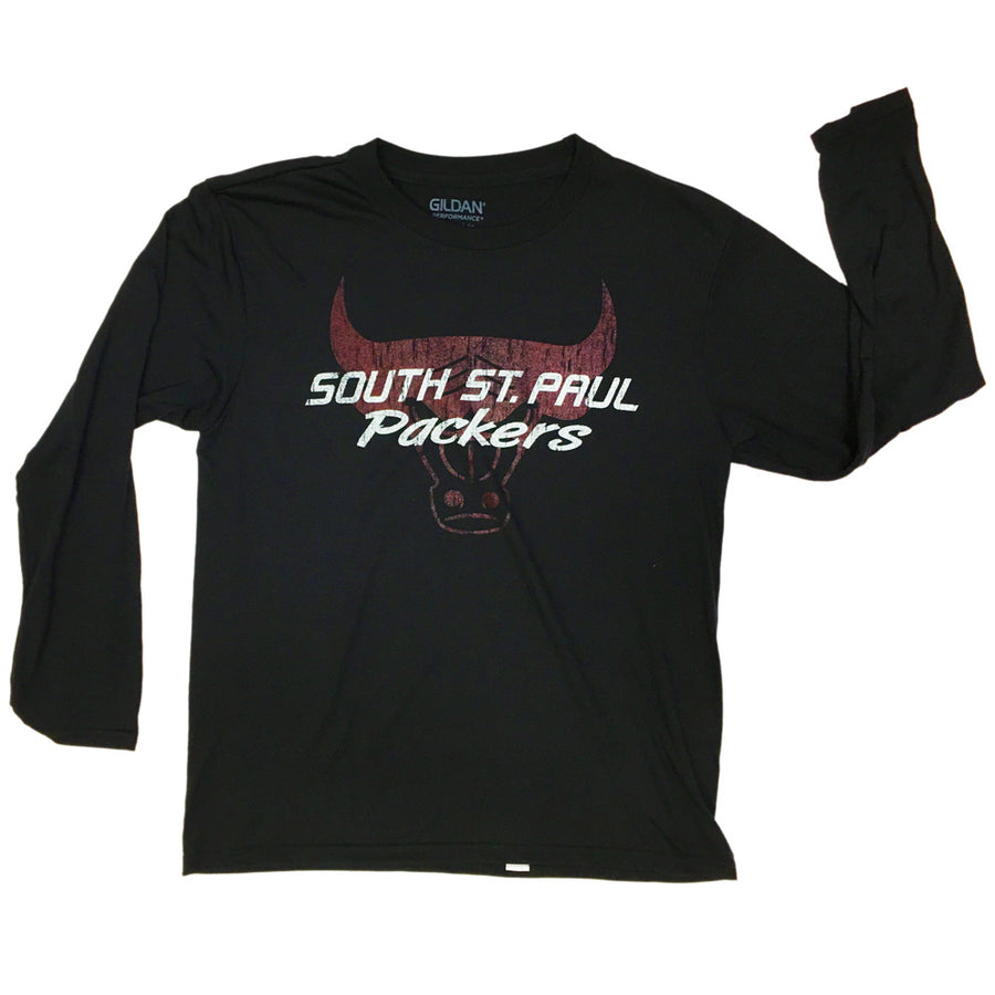 SSP Packers 2c Distressed L/S Perf T - Advanced Sportswear Inc, - Newport, MN