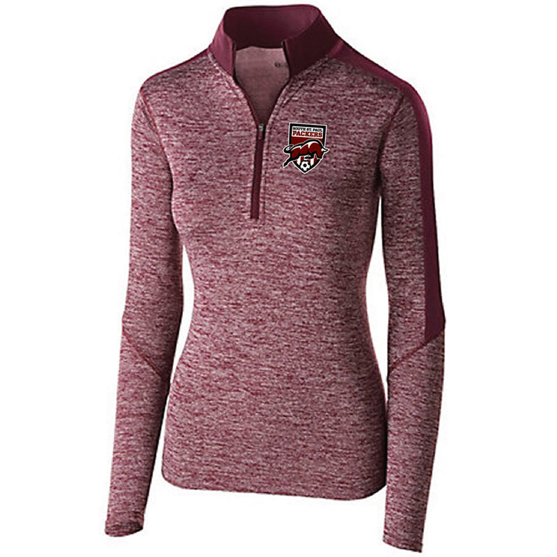 SSP SOCCER - LADIES ELECTRIFY 1/2 ZIP PULLOVER-Ladies-Advanced Sportswear
