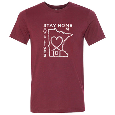 "BELLA+CANVAS ""STAY HOME MN SAVE LIVES"" S/S T'SHIRT-TShirts-Advanced Sportswear"